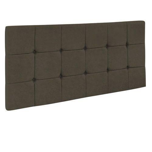 Cabeceira Painel Sleep para Cama Box Solteiro 0,90 Cm Suede Chocolate 1300 - D'Rossi