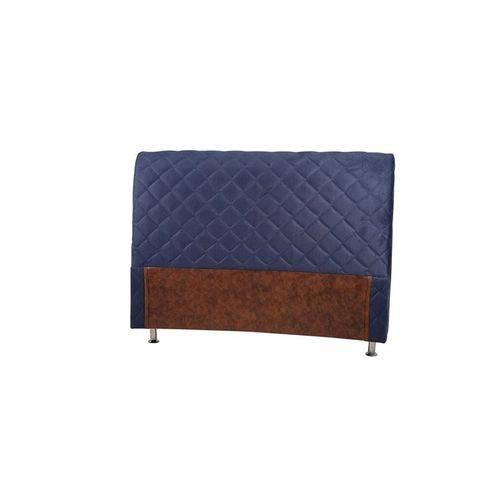 Cabeceira Roma Azul Solteiro (94x128x24)