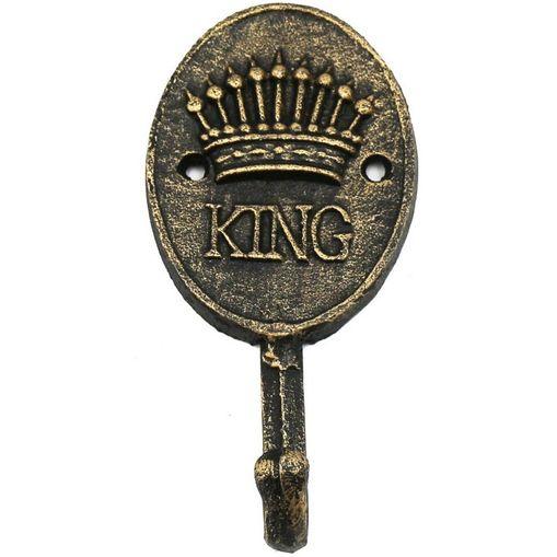 Cabideiro de Parede Dourado 1 Gancho King Urban