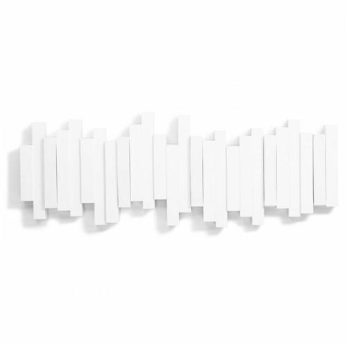 Cabideiro Sticks Branco 5 Ganchos - Occa Moderna