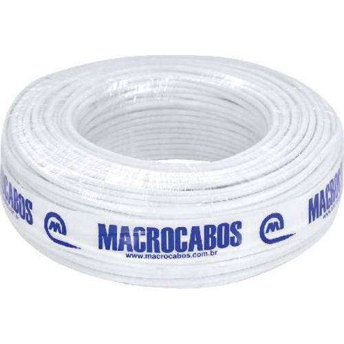 Cabo Coaxial Rgc-59 47% Branco 100 Metros Macrocabos