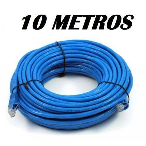 Cabo de Rede 10 Metros Patch Cord Cat 5e Azul