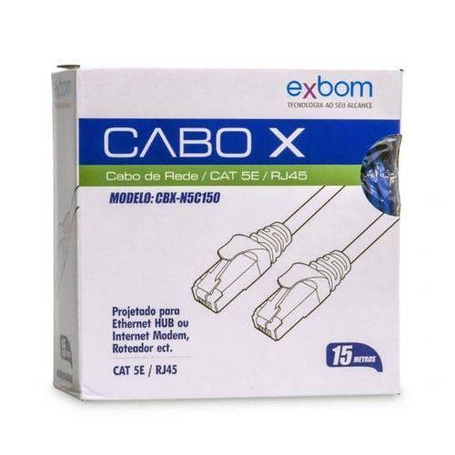Cabo de Rede Rj45 Cat5e - 15 Metros - Exbom