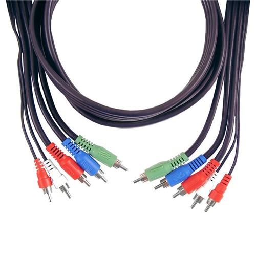 Cabo de Vídeo Componente General Electric 1,80m Ultra Resistente para Conexões Áudio e Vídeo GE