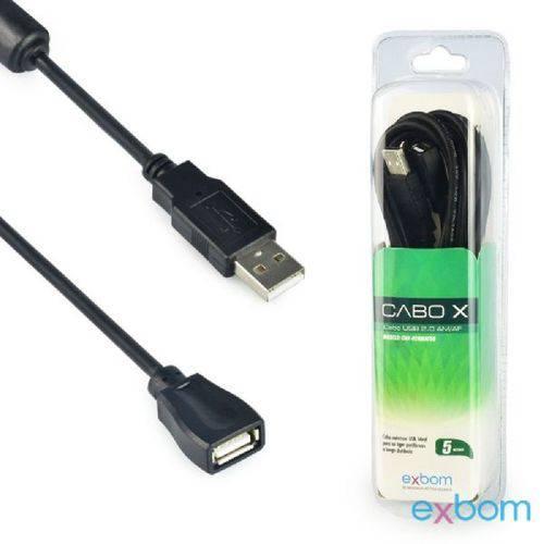 Cabo Extensor USB 10Mts 2.0/Am+Af/OD4.8/ com Filtro Blister