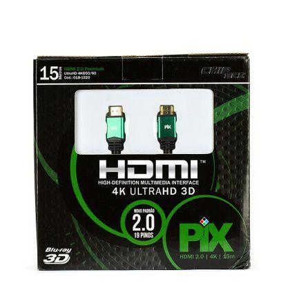 Cabo HDMI 2.0 - 4K, Ultra HD, 3D, 19 Pinos - 15 Metros