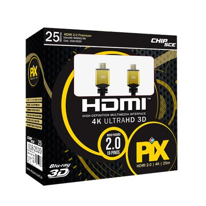 Cabo HDMI 2.0 - 4K, Ultra HD, 3D, 19 Pinos - 25 Metros