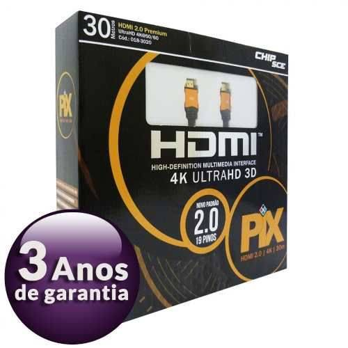 Cabo Hdmi 30 Metros 2.0 4k Ultra HD 3d 19 Pinos