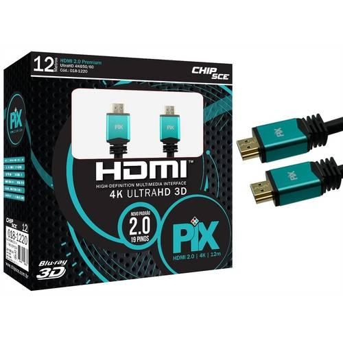 Cabo HDMI 2.0 Ultra HD 4K 3D 12 Metros