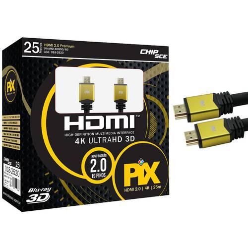 Cabo Hdmi 2.0 Ultra Hd 4k 3d 25 Metros