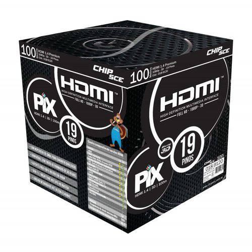 Cabo Hdmi 1.4 4k Ultra HD 3d 19 Pinos 100 Metros Pix 018-9120