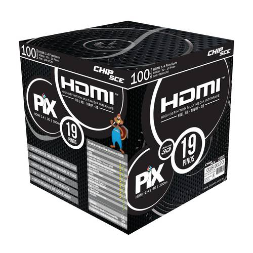Cabo Hdmi 1.4 3d Full Hd Gold 100 Metros
