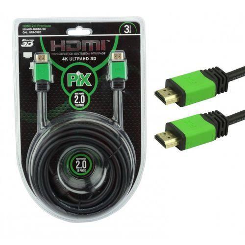 Cabo HDMI High Definition Interface 4 K Ultra HD 3D 3 Metros