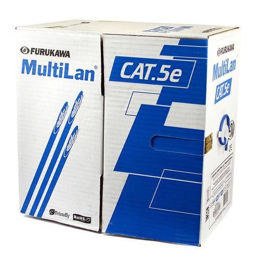 Cabo Multi-lan Sem Blindagem Cinza Furukawa Cat5e 4p X 24awg Caixa com 305 Metros