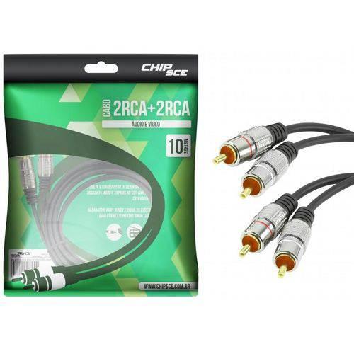 Cabo 2 Rca para 2 Rca 10 Metros Chip Sce para Áudio e Vídeo – 018-0743