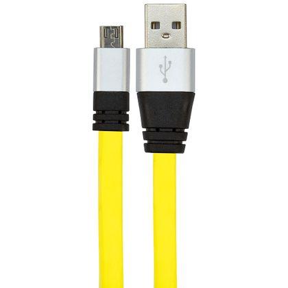 Cabo USB de Silicone Carregador e Dados Celular Micro USB Azul Cabo USB de Silicone Carregador e Dados Celular Micro USB Amarelo