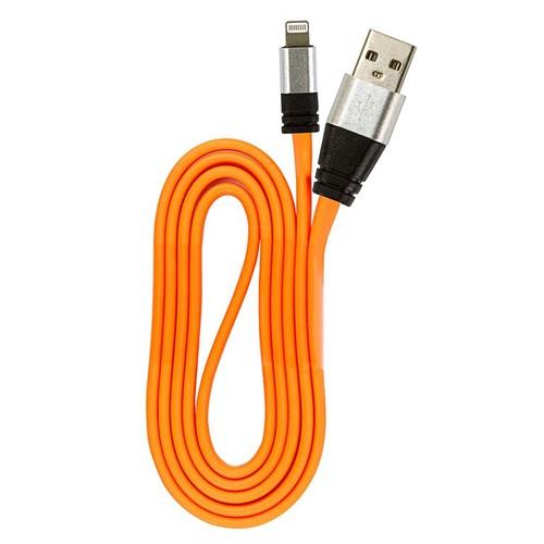 Cabo USB Silicone Carregador e Dados IPhone 5 Até 10 Laranja