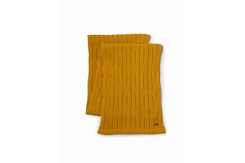 Cachecol Tricot Tranca Canelado - Amarelo - UN