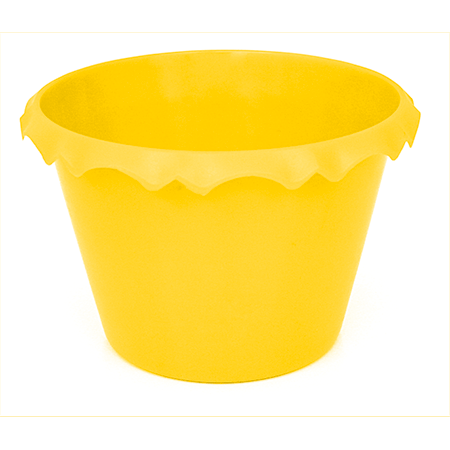Cachepot C/ Borda Amarelo - Unidade