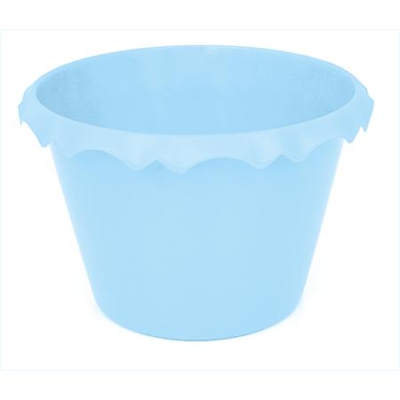 Cachepot C/ Borda Azul Claro - Unidade