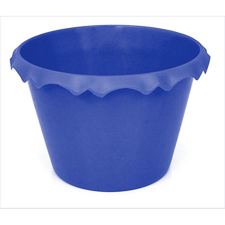 Cachepot C/ Borda Azul Escuro - Unidade