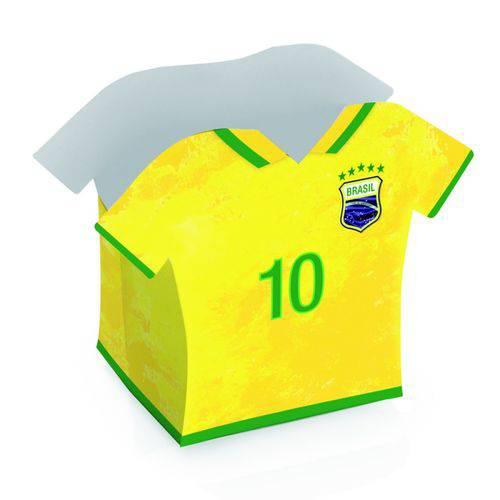 Cachepot Camisa 10 Vai Brasil - 8 Unidades