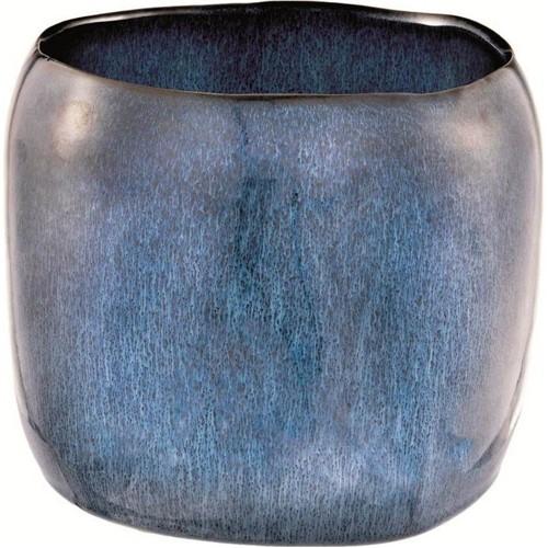 Cachepot Cerâmica Azul 16cm - Occa Moderna