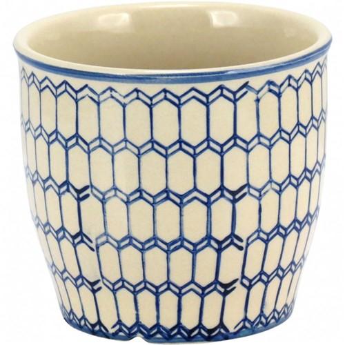 Cachepot Cerâmica Azul 23cm - Occa Moderna