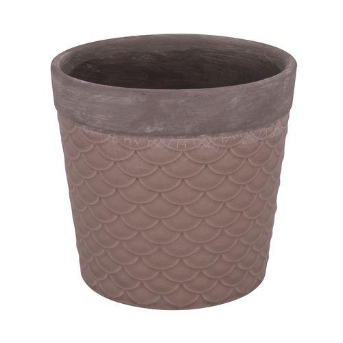 Cachepot de Cerâmica Marrom 14x13cm