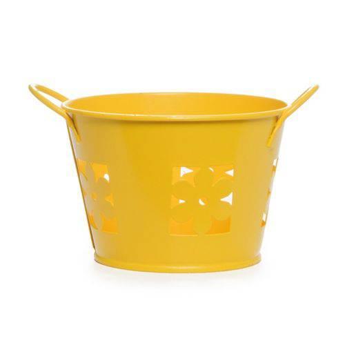 Cachepot de Flor Amarelo Decoração Festa Amarela Escura