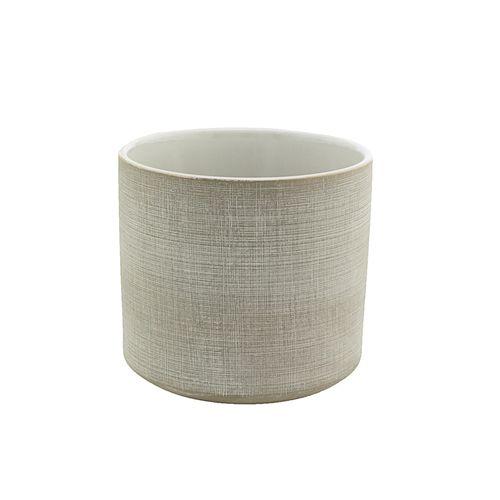 Cachepot em Cerâmica Cinza 16x15cm