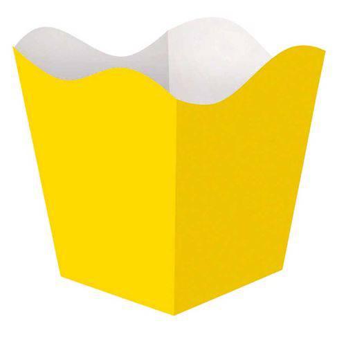 Cachepot Grande Amarelo 8 Unidades