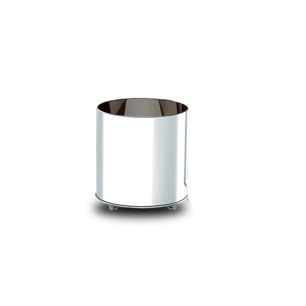 Cachepot Inox com Rodízios - Decorline Lixeiras Ø 40