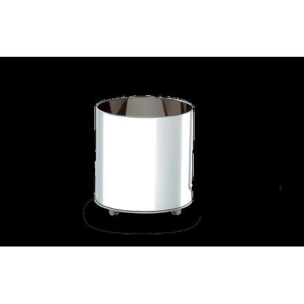 Cachepot Inox com Rodízios - Decorline Lixeiras Ø 50