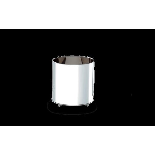 Cachepot Inox com Rodízios - Decorline Lixeiras Ø 35