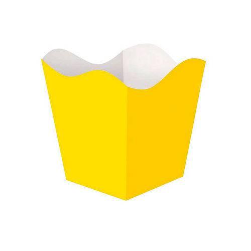 Cachepot Médio Amarelo 8 Unidades