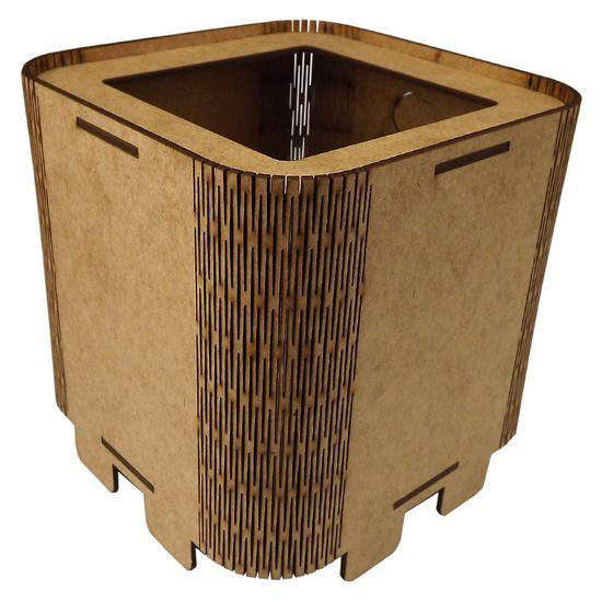 Cachepot Porta Objetos em MDF de Encaixe 11x11x11cm Liso - Palácio da Arte