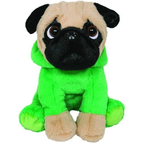 Cachorro Pug com Roupa de Dino