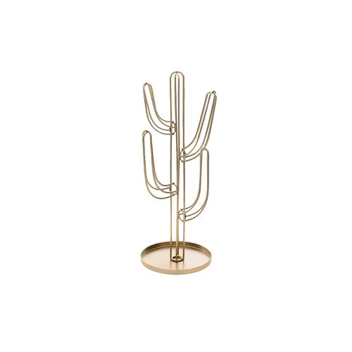 Cactus Decorativo Dourado 13cm