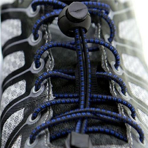 Cadarço Elástico Runlastic Preto/Azul