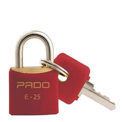Cadeado Colorido Vermelho Sm E-25mm Bl.c/01 Pado