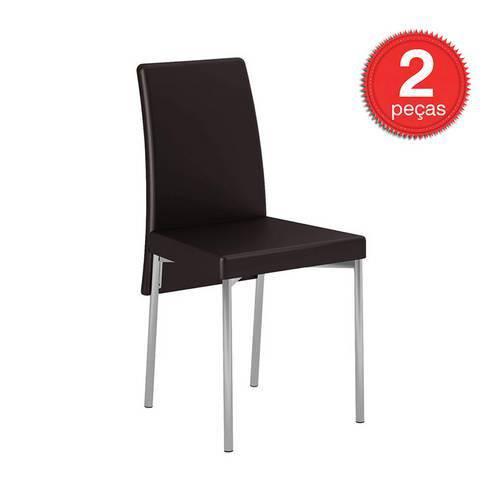 Cadeira-306-Cromada-02 Unidades-Couríssimo-Cacau-Carraro