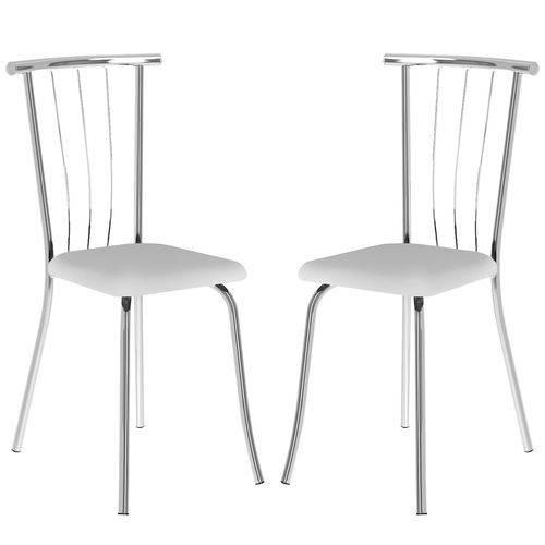 Cadeira 154 Cromada 02 Unidades Branca Carraro