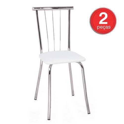 Cadeira 154 Cromada 02 Unidades Napa/Branca Carraro