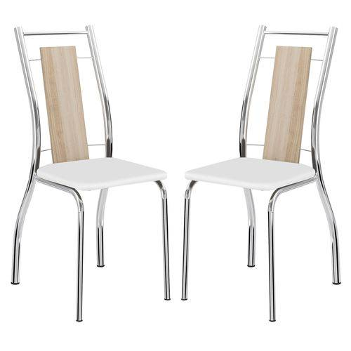Cadeira 1720 Cromada 02 Unidades Anis/branco Carraro
