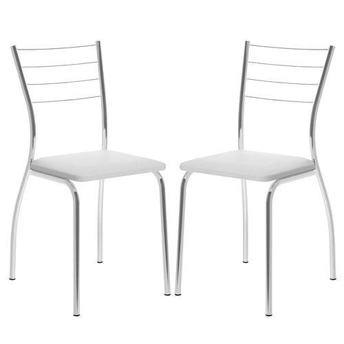 Cadeira 1700 Cromada 02 Unidades Branca Carraro