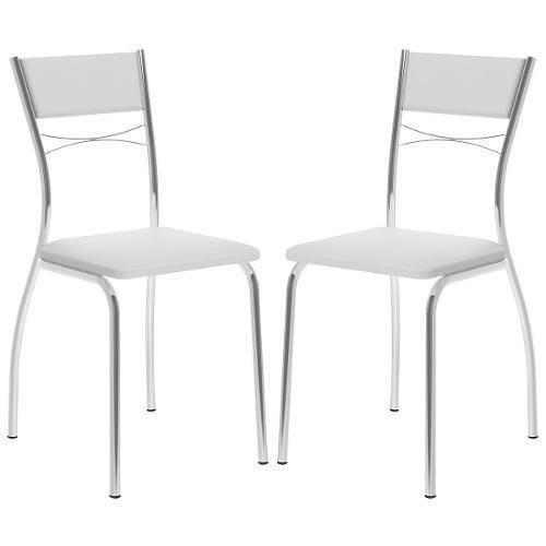 Cadeira 1701 Cromada 02 Unidades Branca Carraro