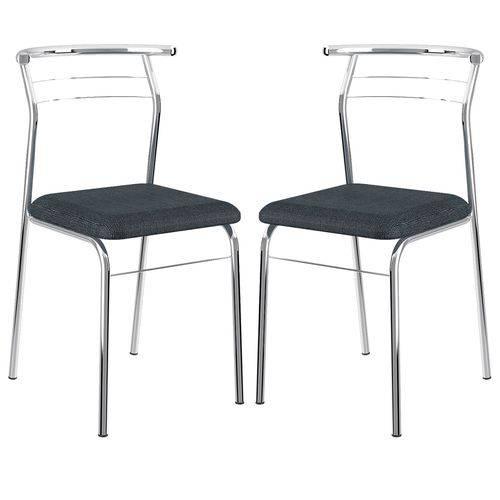 Cadeira 1708 Cromada 02 Unidades Jeans Carraro