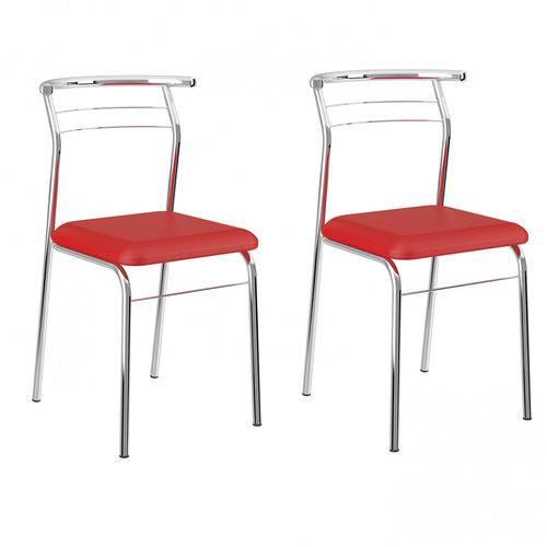 Cadeira 1708 Tubular Carraro Vermelho Real