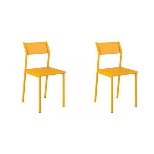 Cadeira 1709 02 Unidades Carraro | Cor: Amarela